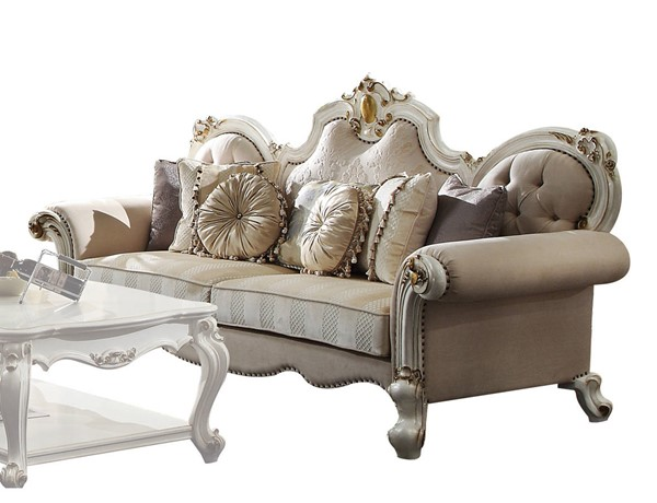 Acme Furniture Picardy Antique Pearl Sofa with 7 Pillows ACM-55460