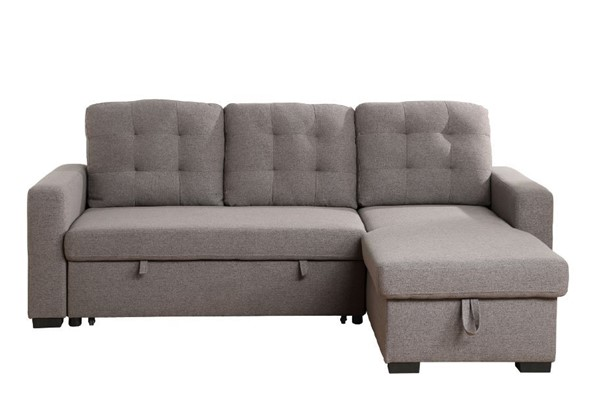 Acme Furniture Chambord Gray Reversible Storage Sleeper Sectional Sofa ACM-55555