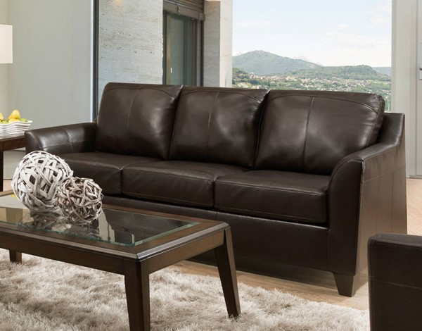 Acme Furniture Cocus Espresso Leather Sofas ACM-5578-SF-VAR