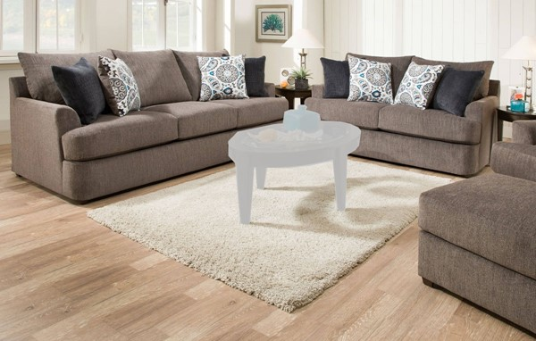 Acme Furniture Firminus Two Tone Brown Chenille 3pc Living Room Set ACM-5579-LR-S2