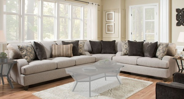 Acme Furniture Cantia Two Tone Gray Fabric Sectional ACM-5580-SEC