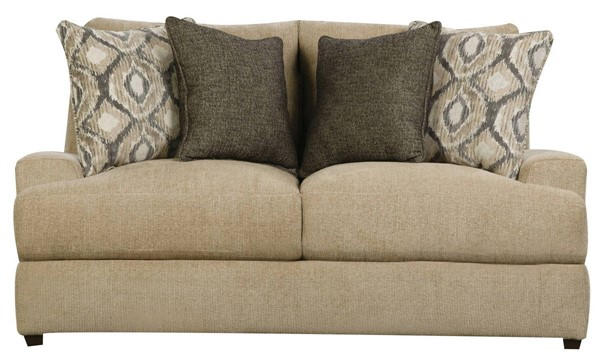Acme Furniture Vassenia Two Tone Latte Chenille Loveseat with 2 Pillows ACM-55822