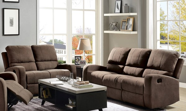 Acme Furniture Livino Brown Fabric 2pc Living Room Set ACM-5583-LR-S1