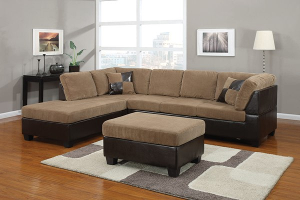 Acme Furniture Connell Light Brown Sectional Sofa ACM-55945