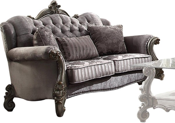 Acme Furniture Versailles Antique Loveseat with Three Pillows ACM-56841