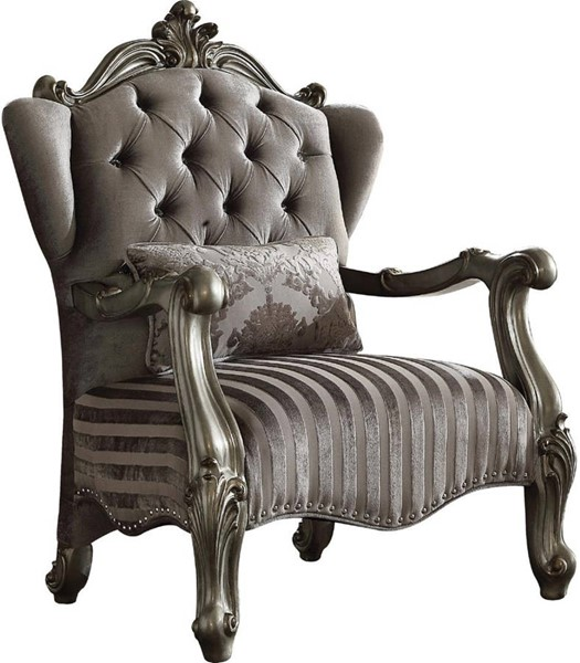 Acme Furniture Versailles Antique Chair with Pillow ACM-56847