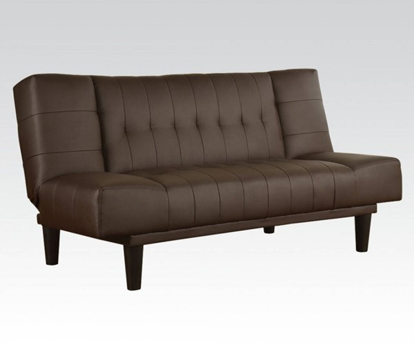 Nila Brown PVC PU Plastic Adjustable Sofa ACM-57090