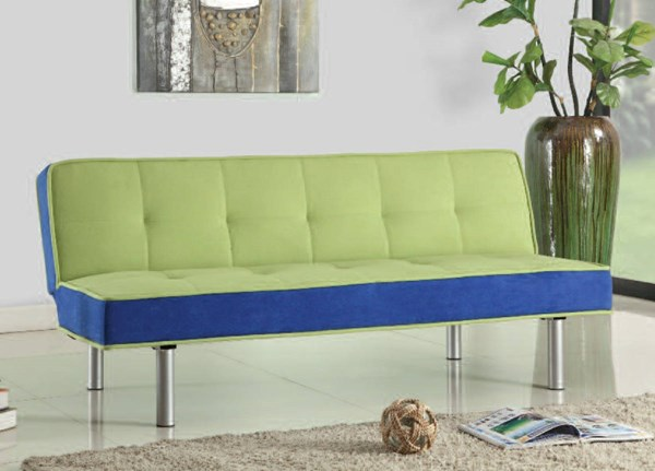 Hailey Green Blue Fabric Metal Adjustable Sofa ACM-57135