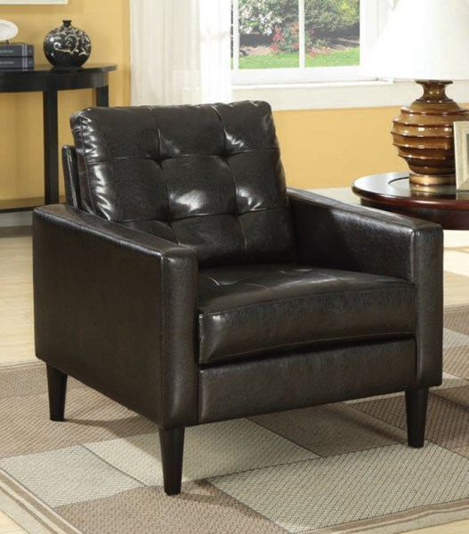 Balin Espresso PU Wood Cushion Back Accent Chairs ACM-59046-LR-VAR
