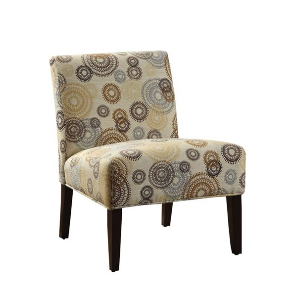 Acme Furniture Aberly Fabric Armless Tapered Legs Accent Chair ACM-59069