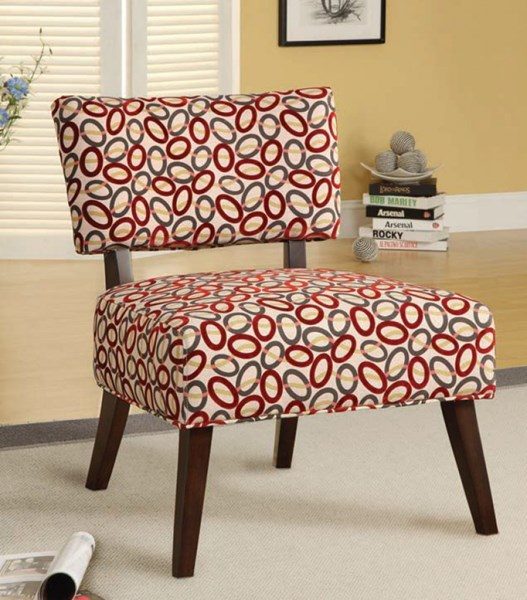 Able Espresso Fabric Polyester Wood Accent Chair ACM-59074
