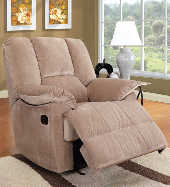 Oliver Mushroom Fabric Wood Metal Glider Recliner ACM-59094