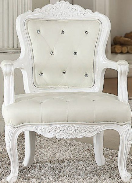 Pascal Elegant White Wood PU Wing Back & Track Arms Accent Chairs ACM-5913-CH-VAR