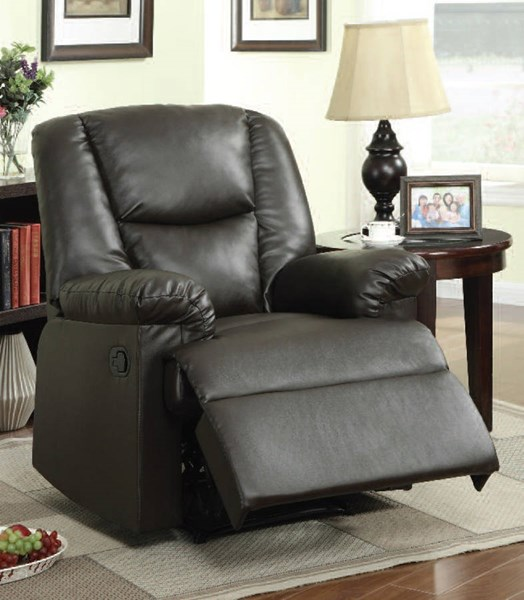 Gavin Brown PU Pillow Top Arms & Cushion Back Recliner ACM-59296