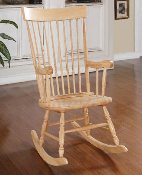 Arlo Wood Spindle Back & Turned Legs Rocking Chair ACM-59299
