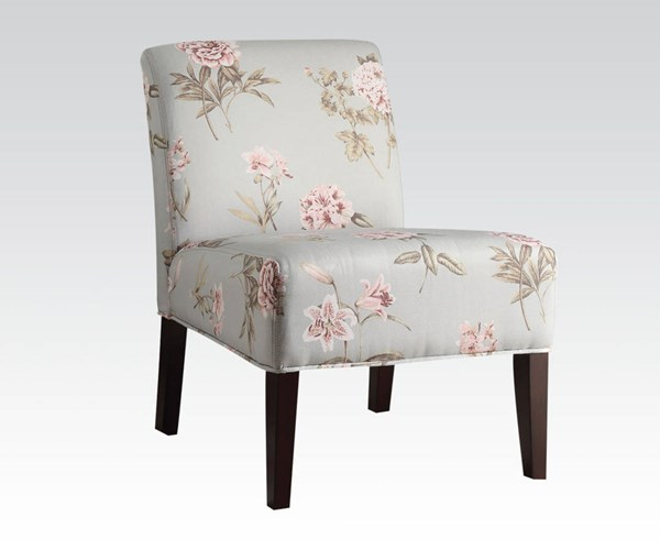 Riston Teal Fabric Wood Armless Accent Chair ACM-59306