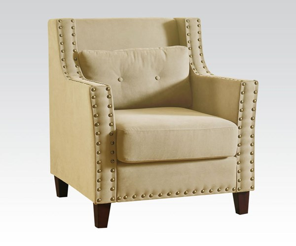 Cibil Beige Red Gray Fabric Wood Accent Chairs & Pillow ACM-59316-CH-VAR