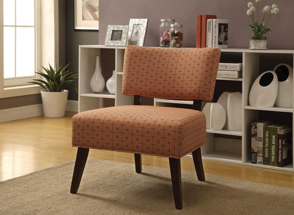 Acme furniture able orange fabric accent chair the for Able furniture