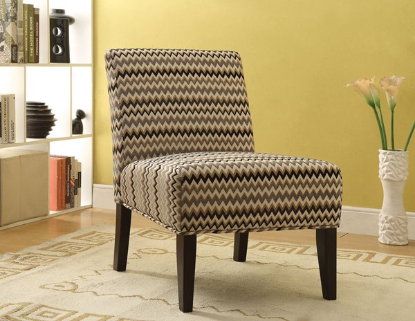 Aberly Espresso Fabric Wood Padded Seat & Back Accent Chair ACM-59394