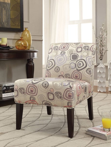 Aberly Espresso Fabric Wood Padded Seat Accent Chair ACM-59396