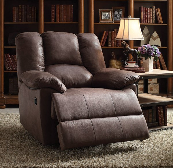 Oliver Brown Fabric Wood Metal Power Motion Recliner ACM-59422