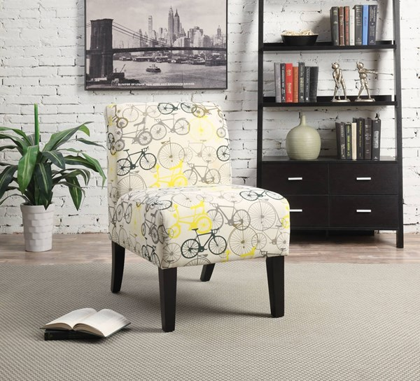 Ollano Contemporary Bike Fabric Foam Poplar Accent Chair ACM-59438