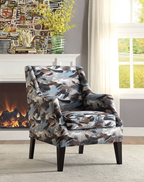 Zarate Contemporary Fabric Padded Club Accent Chair ACM-59441
