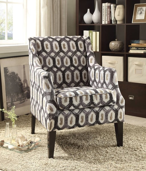 Zarate Contemporary Fabric Tight Back Accent Chair ACM-59444