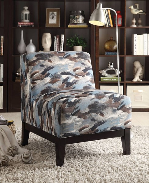 Hinte Contemporary Fabric Poplar Wood Accent Chair ACM-59502