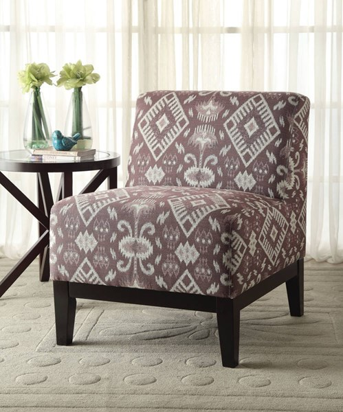 Hinte Contemporary Poplar Wood Fabric Accent Chair ACM-59503