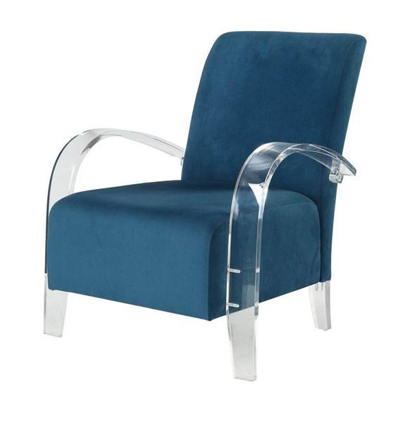Acme Furniture Malyssa Teal Clear Accent Chair