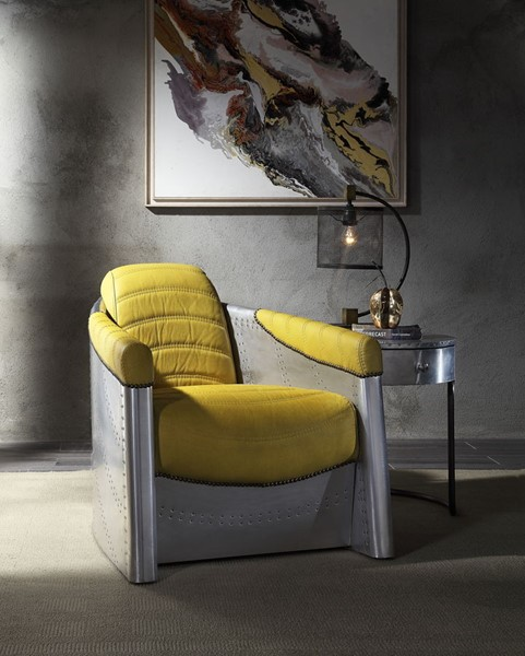 Acme Furniture Brancaster Yellow Accent Chair ACM-59624