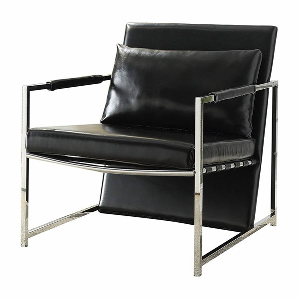 Acme Furniture Rafael Black Accent Chair and Pillow ACM-59778