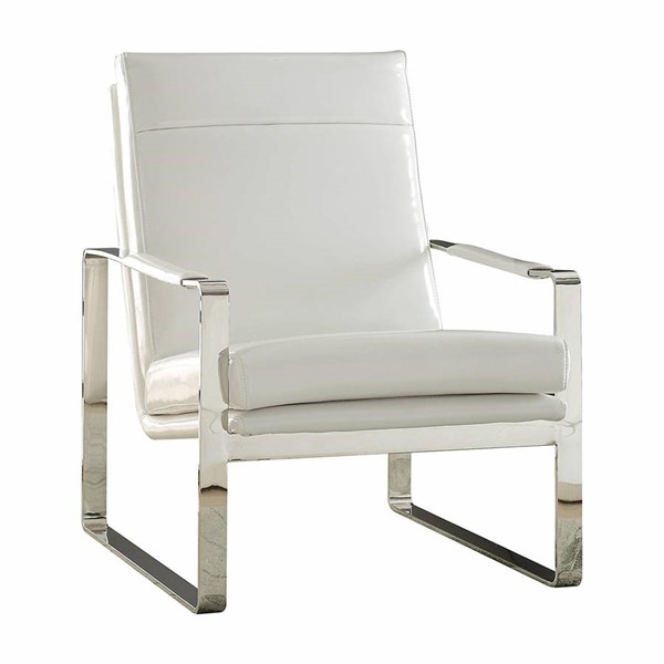 Acme Furniture Rafael White Track Arm Accent Chair ACM-59782