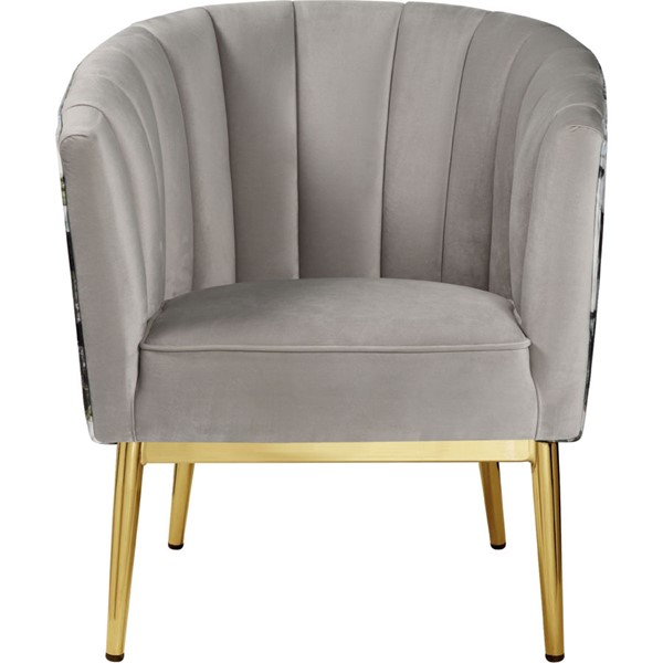 Acme Furniture Colla Gray Gold Accent Chair ACM-59817