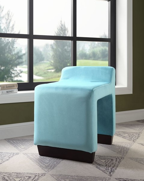Acme Furniture Alford Blue Ottoman ACM-59893