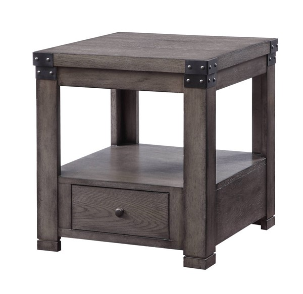 Acme Furniture Melville Ash Gray End Table ACM-87102