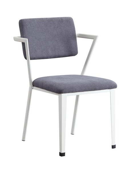 Acme Furniture Cargo Gray White Chair ACM-37888