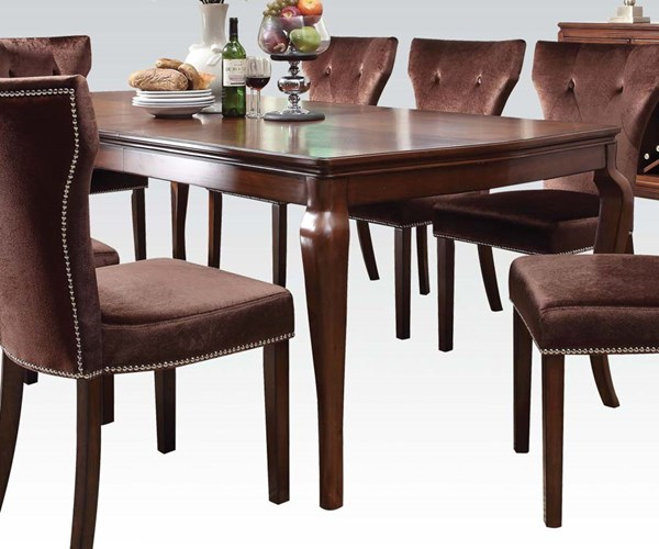 Kingston Formal Brown Cherry Wood Dining Table ACM-60020