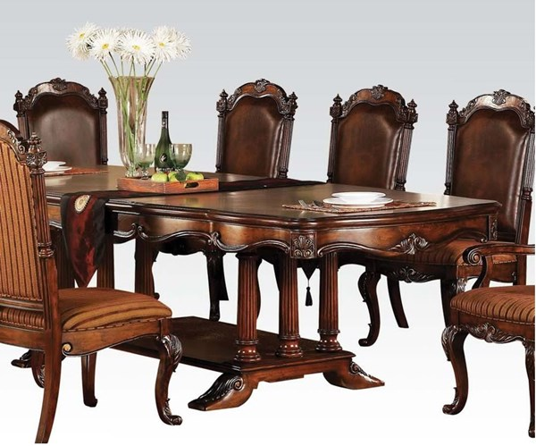 Remington Traditional Brown Cherry Wood Dining Table ACM-60030