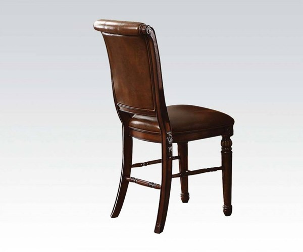 2 Winfred Elegant Cherry Wood Counter Height Chairs ACM-60082
