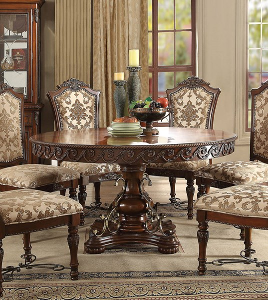 Acme Furniture Wycliff Cherry Pedestal Dining Table ACM-60155