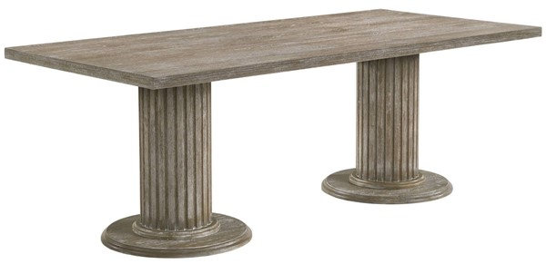 Acme Furniture Gabrian Reclaimed Gray Double Pedestal Dining Table ACM-60170
