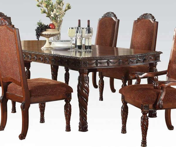 Quimby Traditional Cherry Wood Dining Table ACM-60275