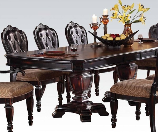 Le Havre Brown Wood Double Pedestal Dining Table ACM-60400