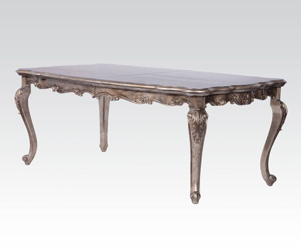 Chantelle Antique Platinum Marble Wood Dining Table ACM-60547