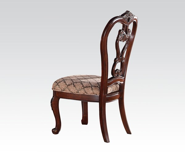 2 Dorothea Classic Cherry Wood Side Chairs ACM-60593