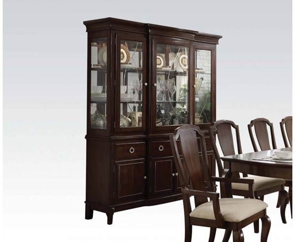Florence Formal Cherry Wood Hutch & Buffet ACM-60734