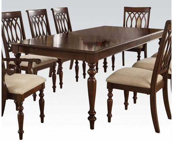 Farrel Formal Walnut Wood Dining Table w/2 Leaves ACM-60745