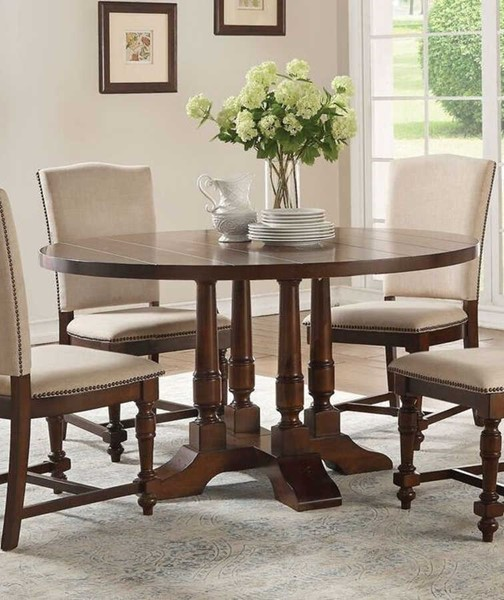 Acme Furniture Tanner Cherry Round Pedestal Dining Table ACM-60835